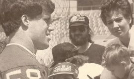 Shane Conlan at first mini-camp, 1987.
