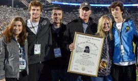 Conlan and his family at Penn State in 2014.