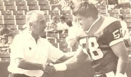 Shane Conlan with Coach Marv Levy.