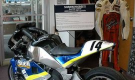 Shawn Higbee's Buell at the CSHOF exhibit hall.
