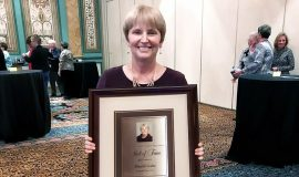 Sheilah Gulas at her National Fastpitch Coaches Association Hall of Fame induction. December 11, 2017.