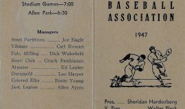 1947 Jamestown Baseball Association.