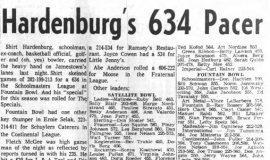 Hardenburg's 634 Pacer. February 15, 1962.