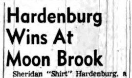 Hardenburg Wins At Moon Brook. August 3, 1959.