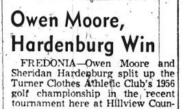 Owen Moore, Hardenburg Win. September 25, 1956.