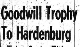 Goodwill Trophy To Hardenburg. July 17, 1961.