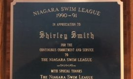 Niagara Swim League Award 1990-91