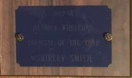 Patrick Whelehan Official of the Year Award 1985-86