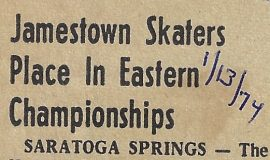 Jamestown Skaters Place In Eastern Championships. January 13, 1974.