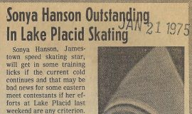 Sonya Hanson Outstanding In Lake Placid Skating. January 21, 1975.