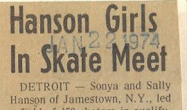 Hanson Girls In Skate Meet. January 22, 1974.