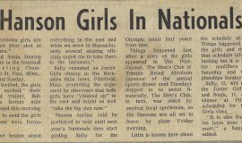Hanson Girls In Nationals.  January 26, 1972.