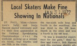 Local Skaters Make Fine Showing In Nationals.  January 31, 1972.
