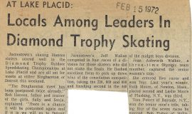 Locals Among Leaders In Diamond Trophy Skating.  February 15, 1972.