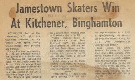 Jamestown Skaters Win At Kitchener, Binghamton. February 22, 1969.