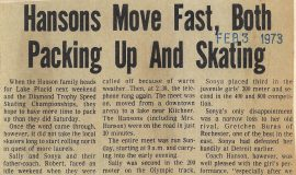 Hansons Move Fast, Both Packing Up And Skating. February 3, 1973.P-J-2-3-73