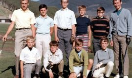 Stan Marshaus, back row, far right, with his students at the Arnold Palmer Golf Academy, Vail, Colorado, July 1968.