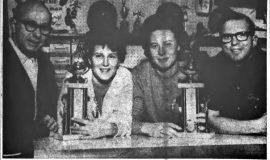 Bowl-Down Cancer Trophies. November 19, 1965.