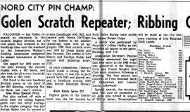 Golen Scratch Repeater; Ribbing Cops All-Events. November 22, 1965.