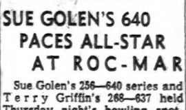 Sue Golen's 640 Paces All-Star At Roc-Mar. March 8, 1963.