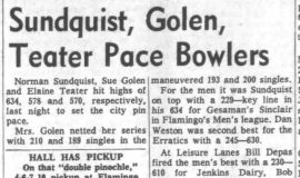 Sundquist, Golen, Teater Pace Bowler. January 29, 1964.