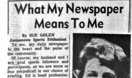 What My Newspaper Means To Me. October 15, 1964.