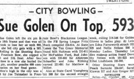 Sue Golen On Top, 593. October 20, 1964.