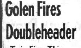 Golen Fires Doubleheader. November 20, 1963.