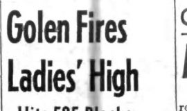 Golen Fires Ladies' High. December 11, 1963.