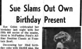 Sue Slams Out Own Birthday Present. December 21, 1965.