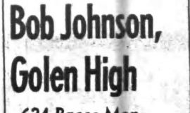 Bob Johnson, Golen High. December 31, 1963.