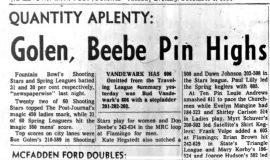 Golen, Beebe Pin Highs. December 8, 1964.