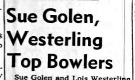 Golen Westerling Top Bowlers. March 16, 1966.