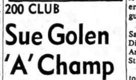 Sue Golen 'A' Champ. March 22, 1965.