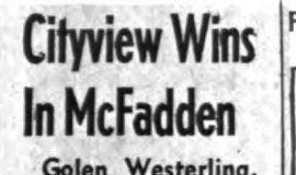 Cityview Wins In McFadden. April 27, 1965.