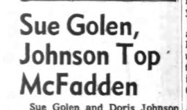 Sue Golen, Johnson Top McFadden. September 28, 1965.