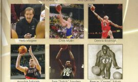 Page from the 2011 enshrinement program of the Naismith Memorial Basketball Hall of Fame . (3)