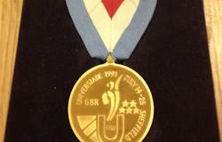 Also among the items is a gold medal from the 1991 World University Games.