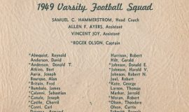 1949 JHS Football Banquet program, inside page 2.
