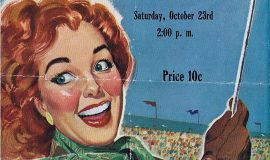 1948 Jamestown High School Football poster.