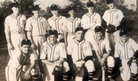 1948 Jamestown Class A Muny League champions. Ted Olsen is second from right in back row.