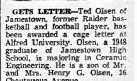 Gets Letter. March 22, 1956.