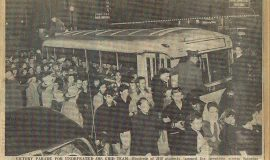 Victory Parade For Undefeated JHS Grid Team. November 14, 1949.