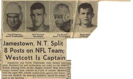 Jamestown, N.T. Split 8 Posts on NFL Team. 1949