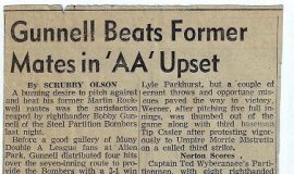 Gunnell Beats Former Mates in 'AA' Upset.