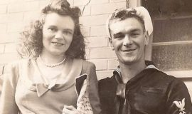 Virginia and Ted Wyberanec, 1945.