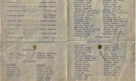 Jamestown High School football banquet program, 1962.
