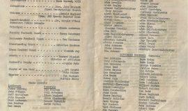 Jamestown High School football banquet program, 1963.