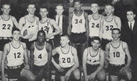 The 1961 Class B Section 6 Champion Silver Creek team.