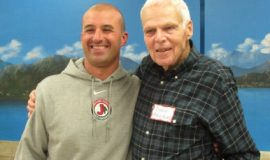 Terry Ransbury with JHS football coach Tom Langworthy